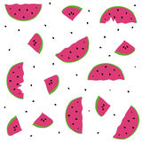 Seamless pattern watermelons Stock Photography