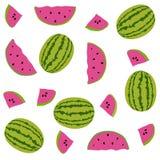 Seamless pattern watermelons Stock Image