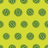 Seamless pattern with watermelons Royalty Free Stock Image