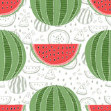 Seamless pattern of watermelons Stock Image