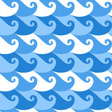 Seamless pattern. Wave Royalty Free Stock Photo