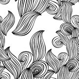 Seamless pattern wave background black and white. vector Stock Photography