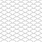 Seamless pattern. Wave. Fish scales texture. Vector illustration. Scrapbook, gift wrapping paper, textiles. Black and white. Simple background stock illustration