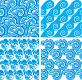 Seamless pattern with waves. Royalty Free Stock Photos