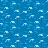 Seamless pattern with waves. Vector illustration Royalty Free Stock Images