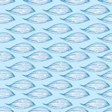 Seamless pattern with waves. On a blue background Royalty Free Stock Photo