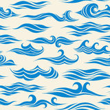 Seamless pattern waves. From element of the design Royalty Free Stock Photography