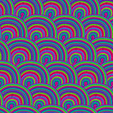 Seamless pattern with waves eps10. Seamless wave hand-drawn patt Stock Photo