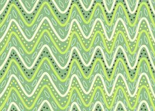 Seamless pattern with waves and points. Green seamless pattern with waves and points Stock Image