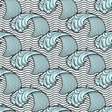 Seamless pattern with waves Stock Image