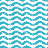 Seamless pattern with waves for summer time theme . Vector illustration Stock Photography