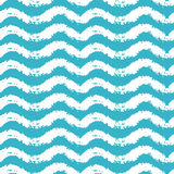 Seamless pattern with waves for summer time theme . Vector illustration Stock Photo