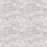 Seamless pattern with wavy scale texture Stock Photography