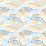 Seamless pattern with wavy scale texture Royalty Free Stock Photography