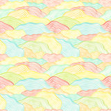 Seamless pattern with wavy scale texture Royalty Free Stock Photo