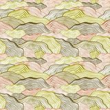 Seamless pattern with wavy scale texture Stock Photos