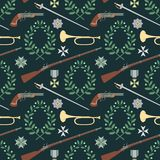 Seamless pattern with weapon of the 19th century Royalty Free Stock Photos