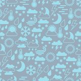 Seamless pattern of  weather icons Royalty Free Stock Image