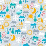 Seamless pattern of  weather icons Stock Photos