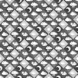 Seamless  pattern of weather icons paper Royalty Free Stock Images