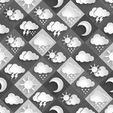 Seamless  pattern of weather icons paper Stock Photos