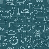 Seamless pattern of weather symbols Stock Photos