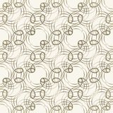 Seamless pattern with weaving circle mesh Royalty Free Stock Images