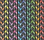 Seamless pattern weaving with ribbons vector illustration