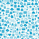 Seamless pattern of web icons Stock Images