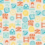 Seamless pattern with web and mobile icons Royalty Free Stock Photography