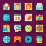 Seamless pattern with web and mobile icons Stock Photography