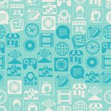 Seamless pattern with web and mobile icons Royalty Free Stock Image