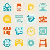 Seamless pattern with web and mobile icons Stock Photos