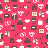 Seamless pattern with wedding equipment Stock Image