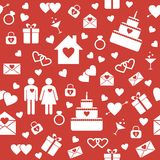 Seamless pattern for wedding or Valentine's Day Stock Photos