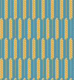 Seamless pattern wheat cereal. Vector Stock Photography
