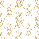 Seamless pattern with wheat ears for wallpaper design Royalty Free Stock Photo
