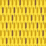 Seamless Pattern with Wheat. Harvest Vector Illustration. Royalty Free Stock Photography