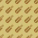 Seamless pattern with wheat Stock Photo
