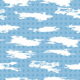 Seamless pattern of white abstract cloudlike shapes, vector  Royalty Free Stock Photos
