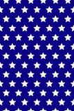 Seamless pattern with white stars. American flag style. MLK day. Vector. royalty free illustration