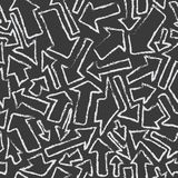 Seamless pattern of white arrows on black background. Royalty Free Stock Images