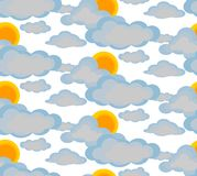 The sun behind the clouds vector illustration