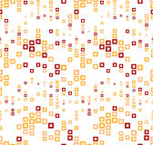 Seamless pattern on a white background. Has the shape of a wave. Consists of abstract geometric elements in color. Stock Photography