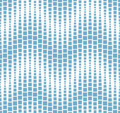 Seamless pattern on white background. Has the shape of a wave. Consists of geometric elements in blue. Royalty Free Stock Photo