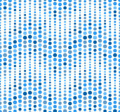 Seamless pattern on white background. Has the shape of a wave. Consists of geometric elements in blue. Royalty Free Stock Photography