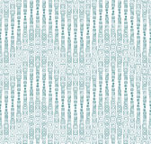 Seamless pattern on a white background. Has the shape of a wave. Consists of geometric elements in color Royalty Free Stock Photography