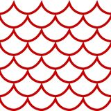 Seamless pattern on white background vector illustration. Seamless pattern red fish scale texture on white background cartoon style vector illustration vector illustration