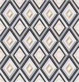 Seamless pattern. white and beige diamonds Royalty Free Stock Image