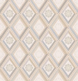 Seamless pattern. white and beige diamonds Stock Photo